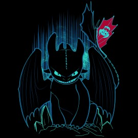 T-shirt Shadow of the Night Fury