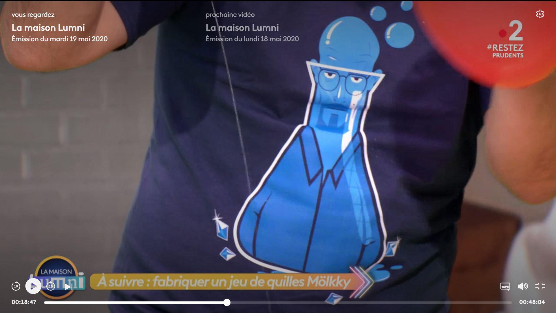 """Le t-shirt """"Bad trip"""" porté par Alex Goude sur France 2"""