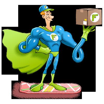 Mr Funtastee livre en hoverboard (non contractuel)