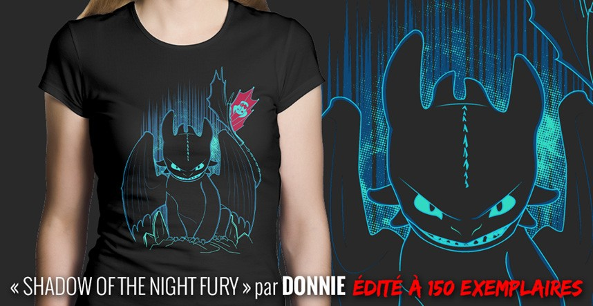 Shadow of the Night Fury par Donnie, édition limitée à 150 exemplaires